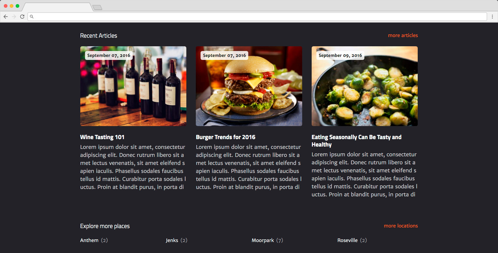 edirectory dining guide theme