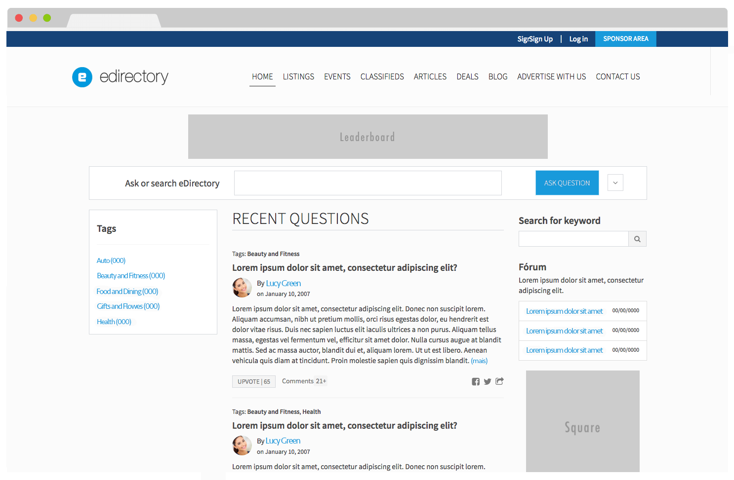 eDirectory Question & Answer Module