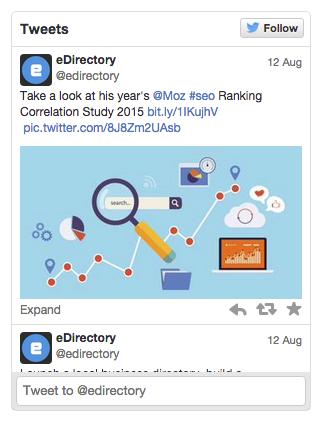 eDirectory Advanced Social Media Plugins - Twitter Plugin