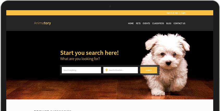 Yellow Page solution built from eDirectory