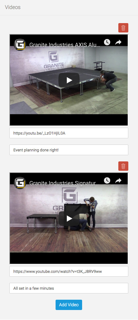 eDirectory Multiple Videos
