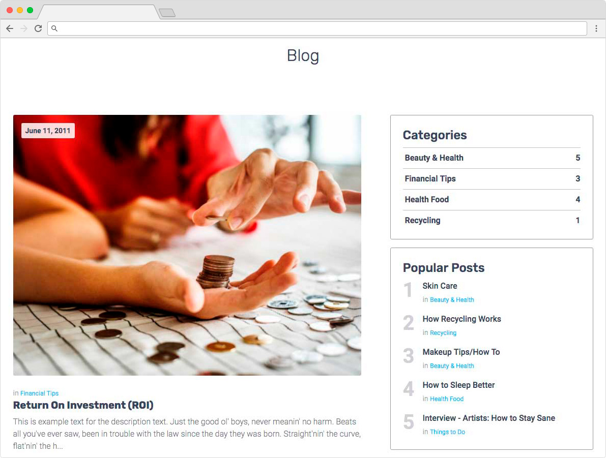 eDirectory - Blogging Module