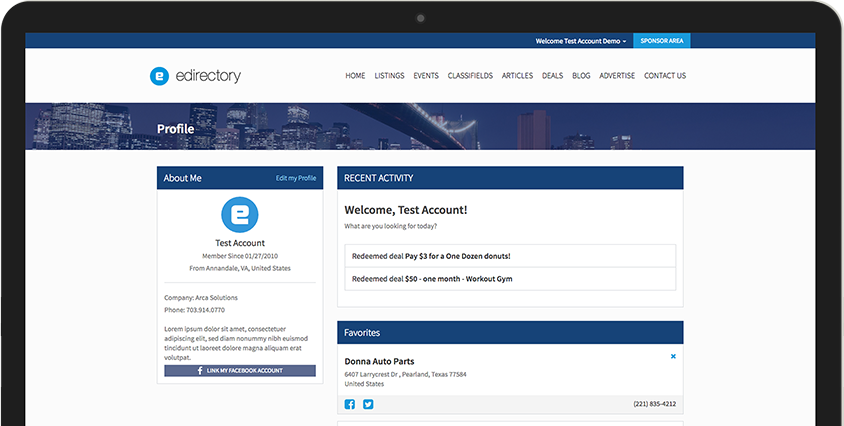 Build a membership website with eDirectory