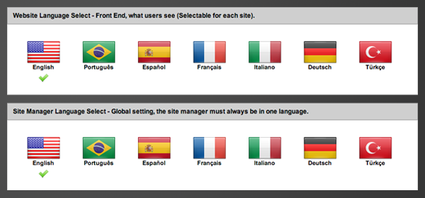Selecting your languages