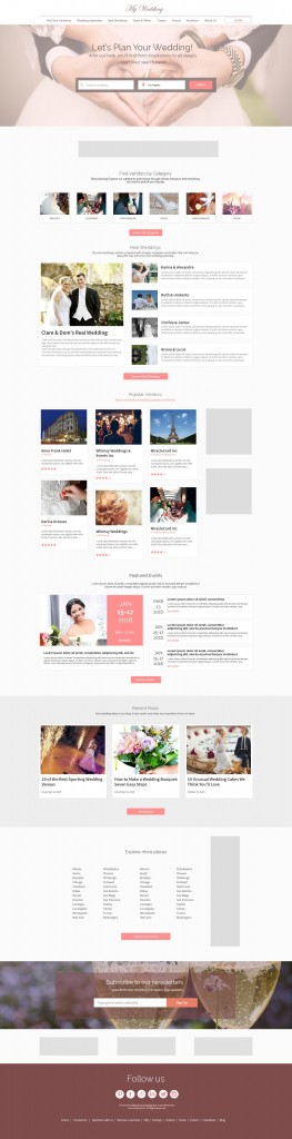eDirectory Wedding Directory Theme