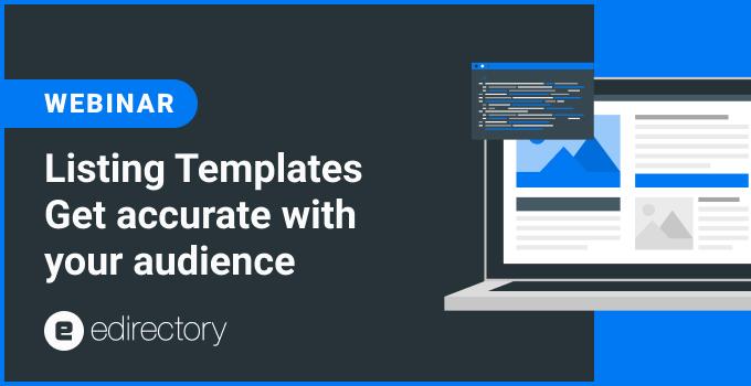 Webinar - Listing Templates